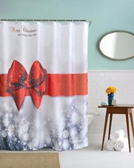 """A.Monamour Graues Bokeh Licht Rotes Bowknot Geschenk Klassisches Design Polyester Tuch Stoff Duschvorhänge Textil Set Mit Haken 180X200 Cm / 72 """"X78"""" - 1"""