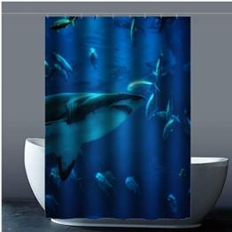 Brauch Shark Hai Dusche Vorhang Shower Curtain Wasserdicht Polyester Fabrik für Bad 120 Zentimeters x 183 Zentimeters - 1