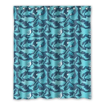 Dalliy Brauch hai Wasserdicht Polyester Shower Curtain Duschvorhang 152cm x 183cm - 1
