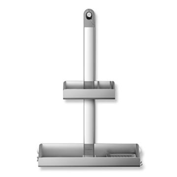 Duschregal gebürsteter Edelstahl und Aluminium -