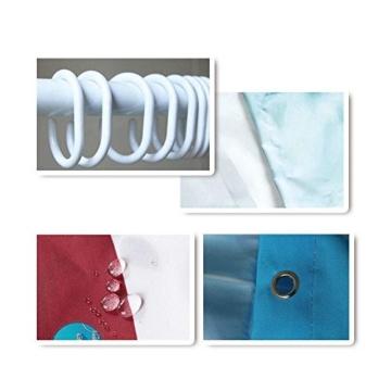 Fipart Polyester Anti Mehltau wasserdichten Duschvorhang bis 72x72 Zoll mit 12 Haken(Hai) - 4