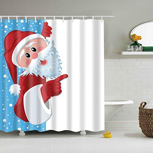 duschvorhang weihnachten 180x180cm der badarmaturen. Black Bedroom Furniture Sets. Home Design Ideas
