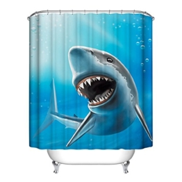 moresave Duschvorhang Ocean Fisch Thema Polyester Badezimmer Vorhang Home Decor, Polyester-Mischgewebe, #4, 150x180cm - 1