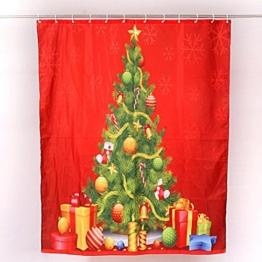 """Transer® Duschvorhang mit Haken Custom Merry Christmas, wasserdicht, Weihnachten Home Decor Badezimmer Neue 152,4x 182,9cm, 100 % Polyester, e, 180*150cm/72*60"""" - 1"""