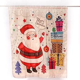 """Transer® Duschvorhang mit Haken Custom Merry Christmas, wasserdicht, Weihnachten Home Decor Badezimmer Neue 152,4x 182,9cm, 100 % Polyester, a, 180*150cm/72*60"""" - 1"""