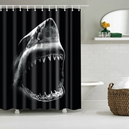 TXXM Duschvorhänge schneiden Vorhänge Polyester Material Wasserdicht und Schimmel Dick Vorhänge Hai Druck Free Stanzen Duschvorhänge ( größe : 180*200cm ) - 1