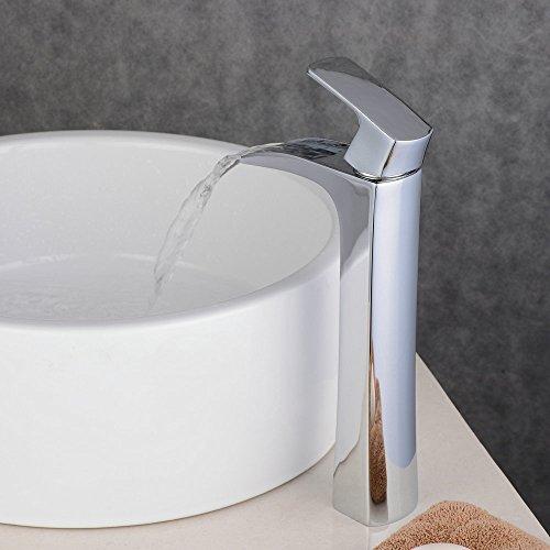 beelee wasserfall messing bad armatur waschtischarmatur einhebelmischer wasserhahn badarmaturen. Black Bedroom Furniture Sets. Home Design Ideas