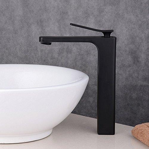 beelee wasserhahn hohe schwarz bad armatur waschbecken waschbeckenarmatur einhebelmischer. Black Bedroom Furniture Sets. Home Design Ideas