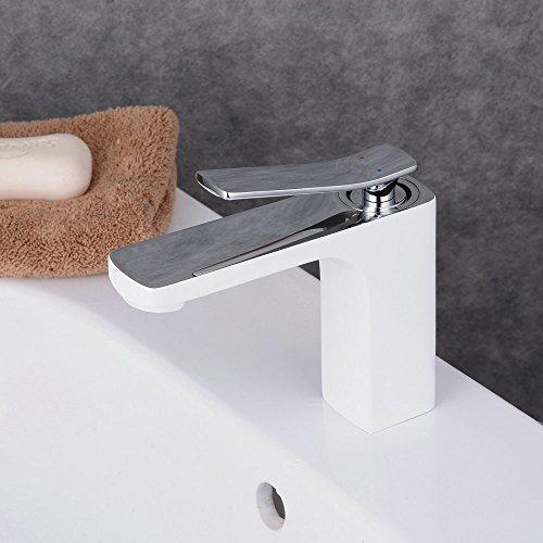 Beelee wasserhahn hohe wei bad armatur waschbecken for Wasserhahn bad modern