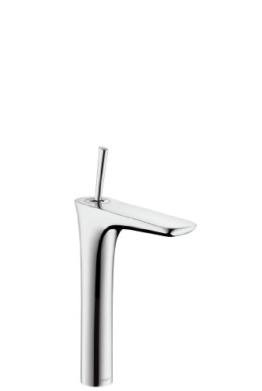 hansgrohe PuraVida Einhebel-Waschtischmischer 240 mit Push-Open Ablaufgarnitur und 900 mm Anschlussschläuchen für Waschschüsseln chrom - 1