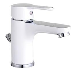 Waschtischarmatur Disegno Nuevo, Einhebelmischer mit Exzentergarnitur, Bicolor, NI075DINWCR - 1