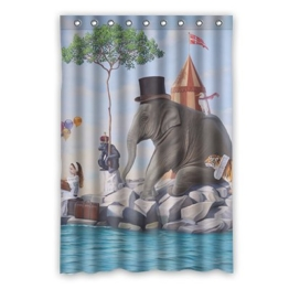 Dalliy Brauch Elefant Wasserdicht Polyester Shower Curtain Duschvorhang 120cm x 183cm - 1