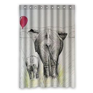Dalliy Brauch Elefant Wasserdicht Polyester Shower Curtain Duschvorhang 120cm x 183cm - 1