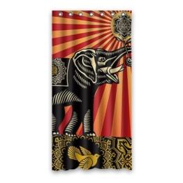 DongMen Kundenspezifische Elefant Wasserdicht Polyester Shower Curtain Duschvorhang 90cm x 183cm - 1