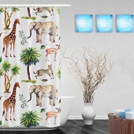 """Duschvorhang, Motiv Afrikanischer Elefant, Malerei, für Badezimmer, Dusche, hohe Qualität, Polyester, farbbeständig, wasserdicht, 152,4x 182,9cm, Multi25, 36""""(Width)x72""""(Length) - 1"""