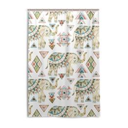 My Daily African Elefant Tribal Duschvorhang 152,4x 182,9cm, schimmelresistent & Wasserdicht Polyester Dekoration Badezimmer Vorhang, Polyester, multi, 48x72 - 1