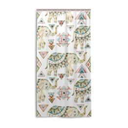 My Daily African Elefant Tribal Duschvorhang 152,4x 182,9cm, schimmelresistent & Wasserdicht Polyester Dekoration Badezimmer Vorhang, Polyester, multi, 36x72 - 1