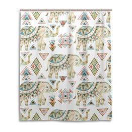 My Daily African Elefant Tribal Duschvorhang 152,4x 182,9cm, schimmelresistent & Wasserdicht Polyester Dekoration Badezimmer Vorhang, Polyester, multi, 60x72 - 1