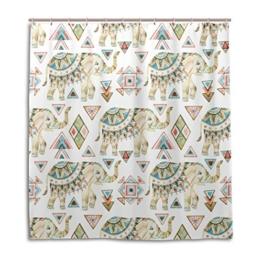 My Daily African Elefant Tribal Duschvorhang 152,4x 182,9cm, schimmelresistent & Wasserdicht Polyester Dekoration Badezimmer Vorhang, Polyester, multi, 66 x 72 - 1