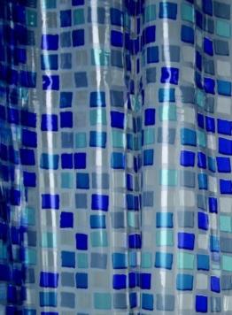 Blue Canyon Duschvorhang aus PVC, Mosaikdesign, Blau - 1