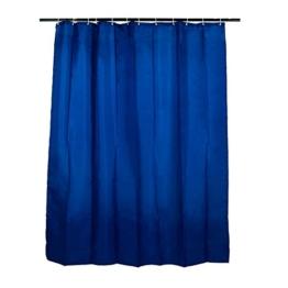 Smartfox Duschvorhang Blau, 180x200 cm, 12 Ösen inkl. 12 Kunststoffringen - 1