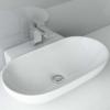 BxTxH: 56x39x12 cm Aufsatzwaschbecken Hängewaschbecken WS 6203z aus Keramik   Waschbecken Waschtisch Waschplatz Handwaschbecken - 1
