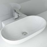 BxTxH: 56x39x12 cm Aufsatzwaschbecken Hängewaschbecken WS 6203z aus Keramik | Waschbecken Waschtisch Waschplatz Handwaschbecken - 1