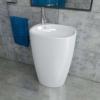 Design Keramik Standwaschbecken Waschtisch Säule Säulenwaschbecken oval KBE10 - 1